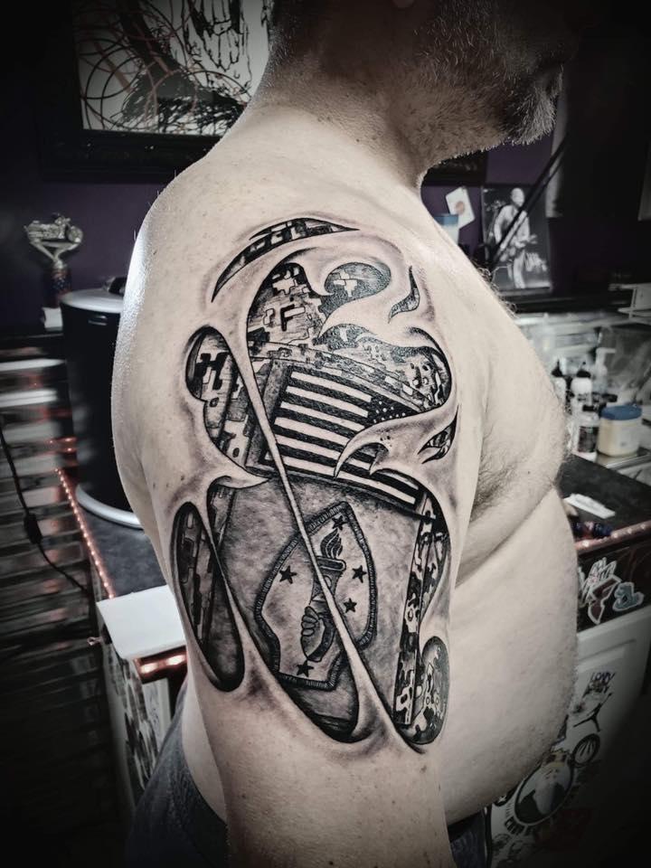 Skin Tear ACU Tattoo